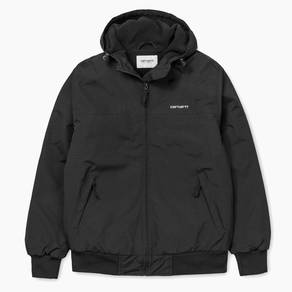 Bunda Carhartt WIP Hooded Sail Jacket - Black/White
