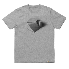 Tričko Carhartt WIP S/S C Ramp - Grey Heather/Black