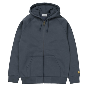 Mikina Carhartt WIP Hooded Chase Jacket - Stone Blue