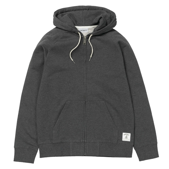 Mikina Carhartt WIP Hooded Holbrook LT Jacket - Black Heatherholbrook Black Heather