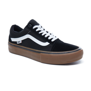 Boty Vans Old Skool Pro - Black White Medium gum a90bb4b072e