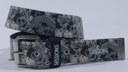 Pásek Sessions Destroyer Skull Belt - Camo