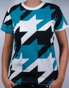 Tričko Nikita Key Tee - White/Black/Sea Green