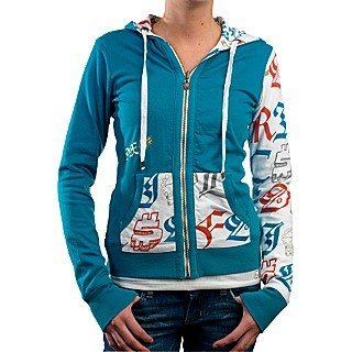 Mikina Fox Girls Warhol Hoody Reversible - Bone