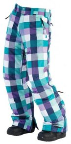 Kalhoty Meatfly Uni Pants - Purple/Blue Checkers - E