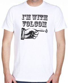 Tričko Volcom Im With Volcom - White