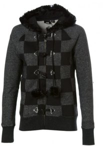 Vans Fur Hoody Check Zip - Black