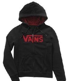 Mikina Vans Across Zip Hoody - Black/Chill
