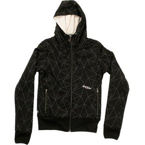 Mikina Volcom Cruz Quilted Full Zip Hooded Sweatshirt - Black