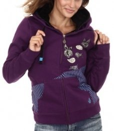 Mikina Volcom Deer Alex Zip Hoody - Deep Purple