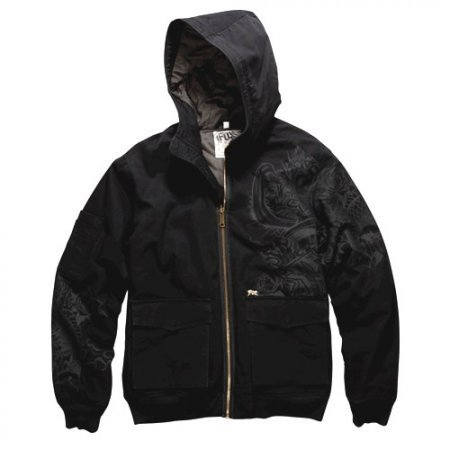 Bunda Fox Cadet Bomber Jacket - Black