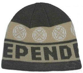 Kulich Independent Woven Cross Beanie - Green/Khaki