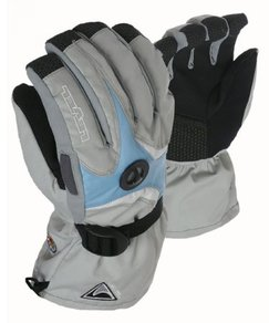 Snowboardové Rukavice Level W Matrix Gloves - Grey/Light Blue