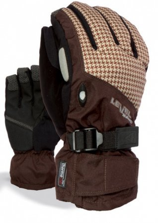 Snowboardové Rukavice Level Matrix Under Gloves - Brown