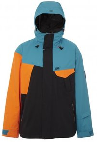 Bunda Vans Mylan Insulated Cargo Jacket - (Blue/Orange/Black) Carribean Sea/Orange
