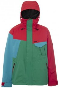 Bunda Vans Mylan Insulated Cargo Jacket - (Red/Green/Blue) Molten Lava/Carribean Sea