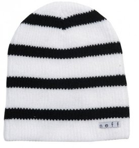 Kulich Neff Daily Stripe Beanie - White/Black