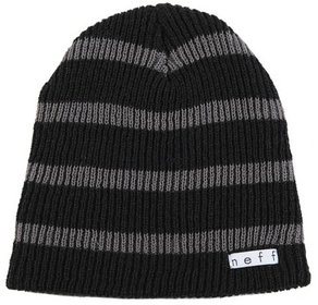 Kulich Neff Daily Stripe Beanie - Black/Charcoal
