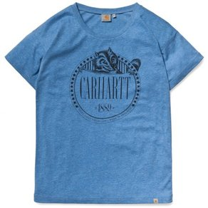 Tričko Carhartt WIP W S/S Badger T-Shirt - Blue Heather/Black