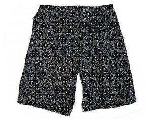 Plavky Vans Wallpaper Boardshort - Black/White