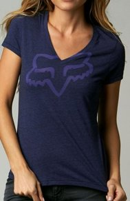 Tričko Fox Girls Rational V Neck Tee - Blue Steel