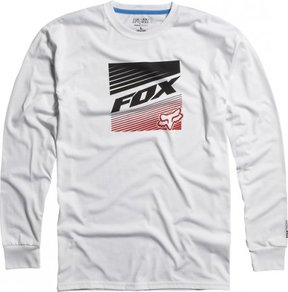 Tričko Fox Decadence L/S Tech Tee - White