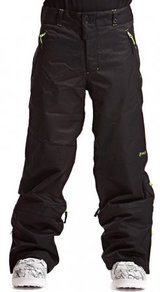 Kalhoty Meatfly Pluto Pants (Loose Fit) - Black/Lime - A
