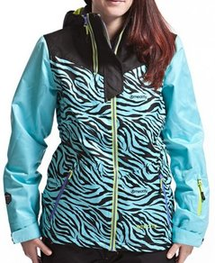 Bunda Meatfly Solar Jacket - Black/Blue/Zebra - A