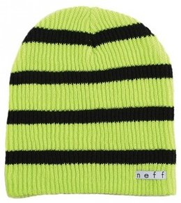 Kulich Neff Daily Stripe Beanie - Tennis/Black