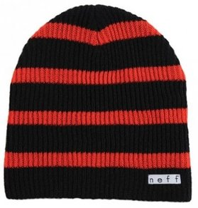 Kulich Neff Daily Stripe Beanie - Black/Red