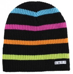 Kulich Neff Daily Stripe Beanie - Black/Multi