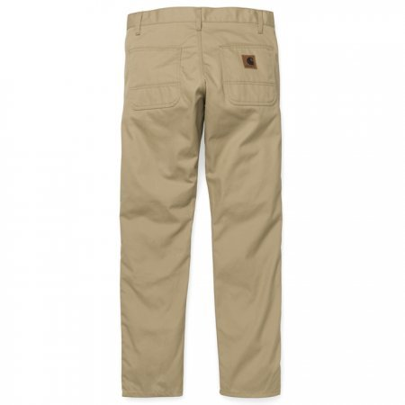 Kalhoty Carhartt WIP Lincoln Simple Pant - Leather rigid