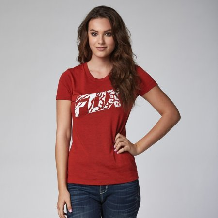 Tričko Fox Womens Bonnie Tech Tee - Heather Red