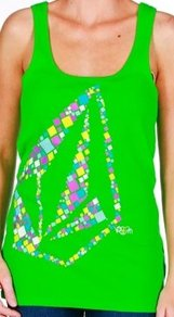 Tílko Volcom 2 in 1 Tank Top - Green