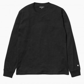 Tričko Carhartt WIP L/S Base T-Shirt - Black/White