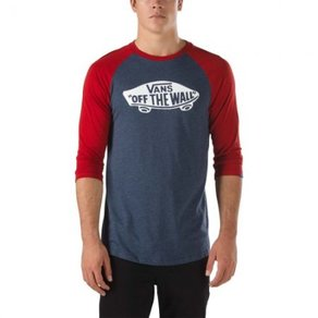 Tričko Vans OTW Raglan - Heather Navy/Red Dhalia