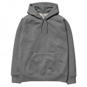 Mikina Carhartt WIP Hooded Chase Sweatshirt - Dark Grey Heather