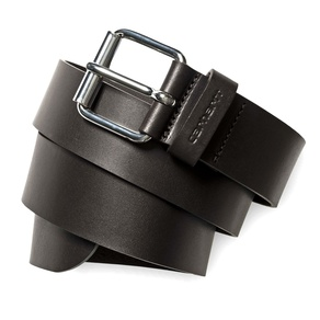 Pásek Carhartt WIP Script Belt Cow Leather - Tobacco/Silver