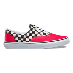 Boty Vans Era (2-Tone Check) - Rouge Red/True White