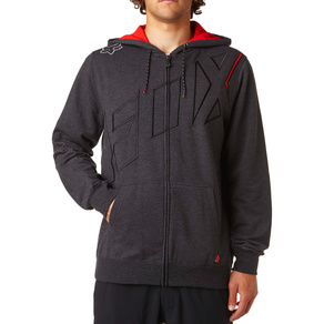 Mikina Fox Stretcher Seca Zip - Heather Black