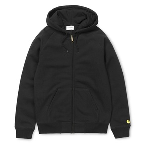 Mikina Carhartt WIP Hooded Chase Jacket - Black/Gold