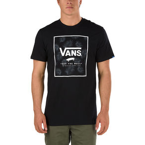 Tričko Vans Print Box T-Shirt - Black/Tonal Palm