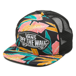 Kšiltovka Vans Beach Girl Trucker - Black Tropical