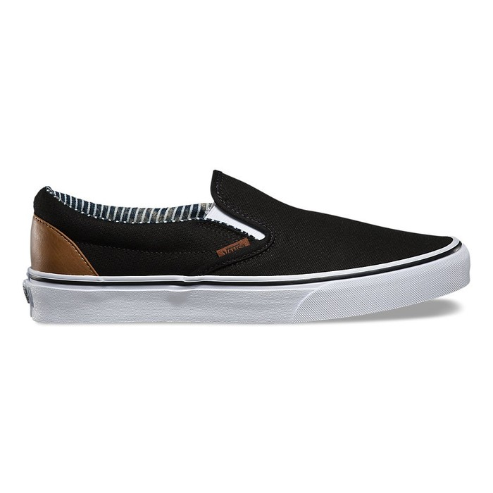 Boty Vans Classic Slip-On (C&L) - Black/Stripe DenimVans Slip On