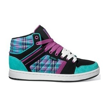 Boty Vans Callie Hi - (Plaid) Black/TealVans Mix Old