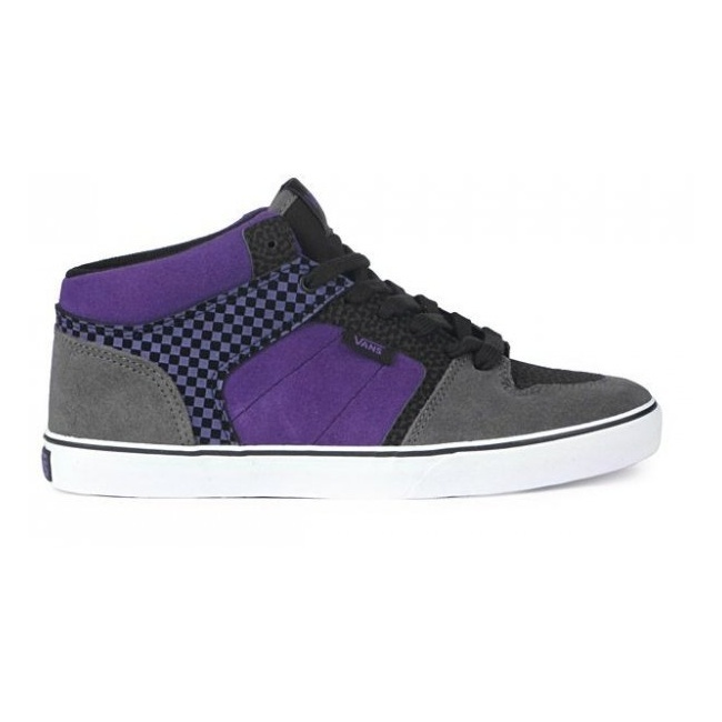 Boty Vans Ellis Mid MP - (Check) Black/PurpleVans Mix Old