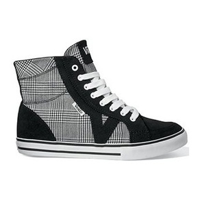 Boty Vans Tory Hi - (Plaid) Black