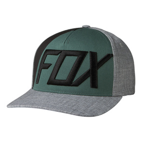 Kšiltovka Fox Blocked Out Flexfit - Heather Grey